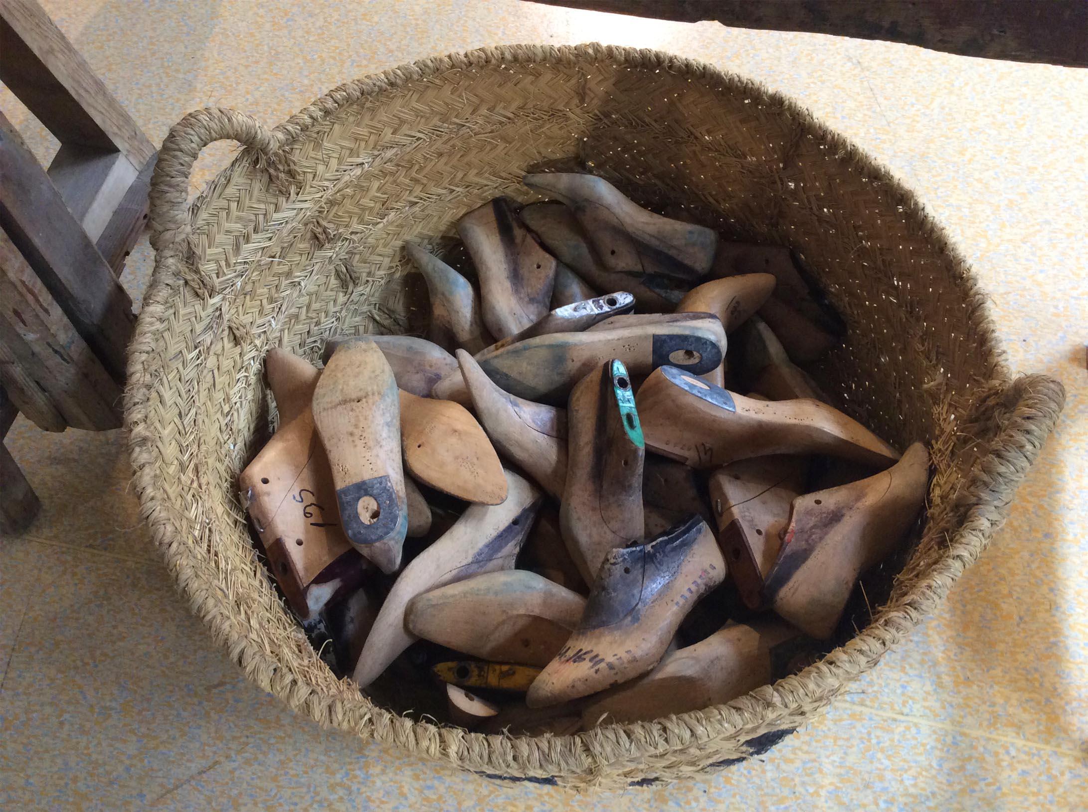 antiguos zapatos
