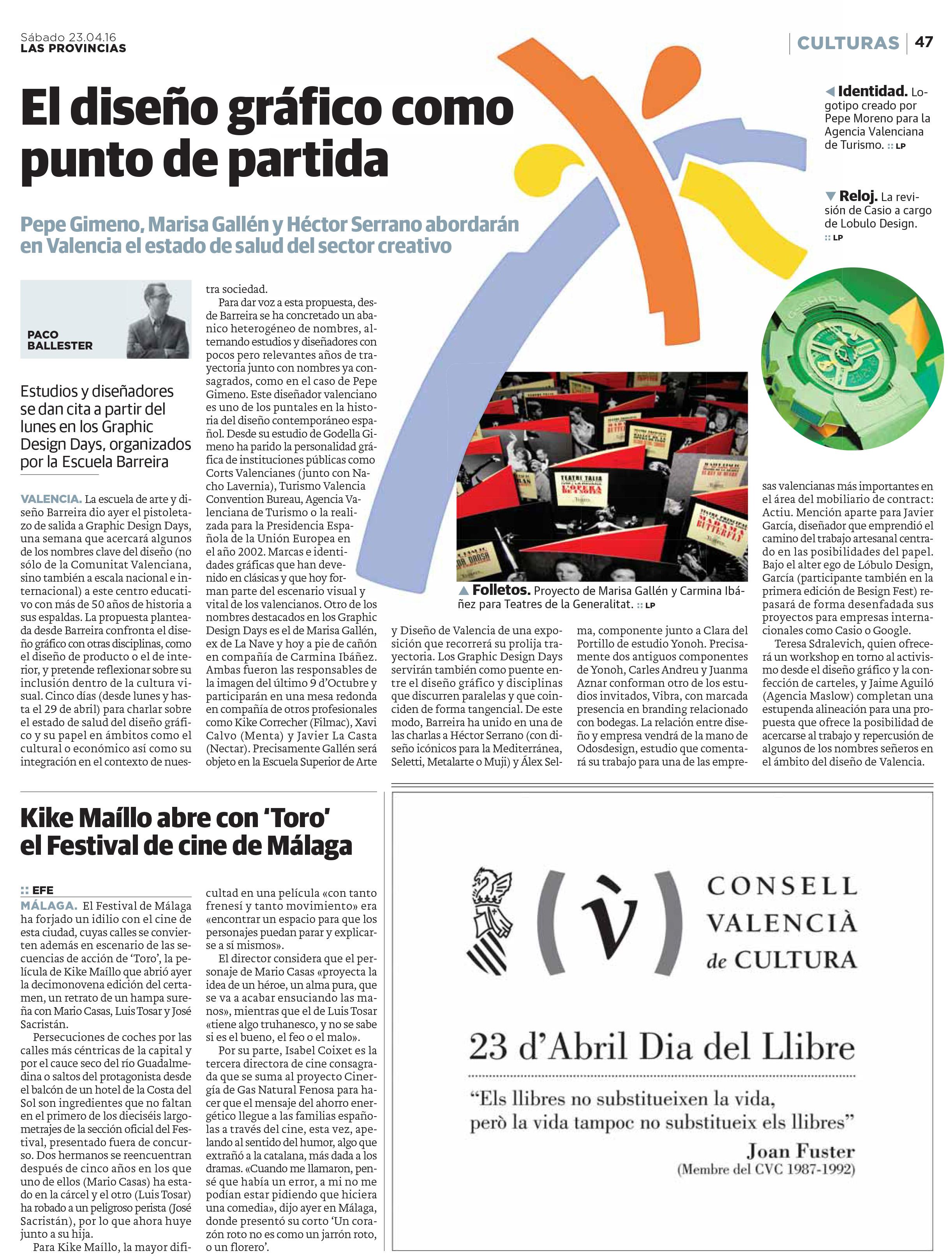 Press Barreira A D ~ Escuela Superior De Diseño De Valencia
